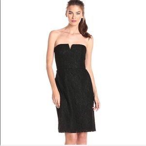 Donna Morgan Black Quinn Strapless Lace Dress S